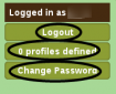 Updated login panel